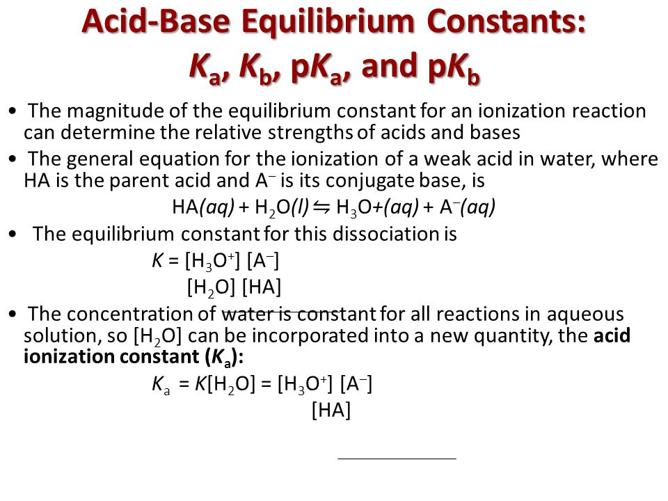 the determination of acid constant ka Determining the ka of a weak acid by half titration ka is equilibrium constant for the partial ionization determine the half-titration point of an acid-base.