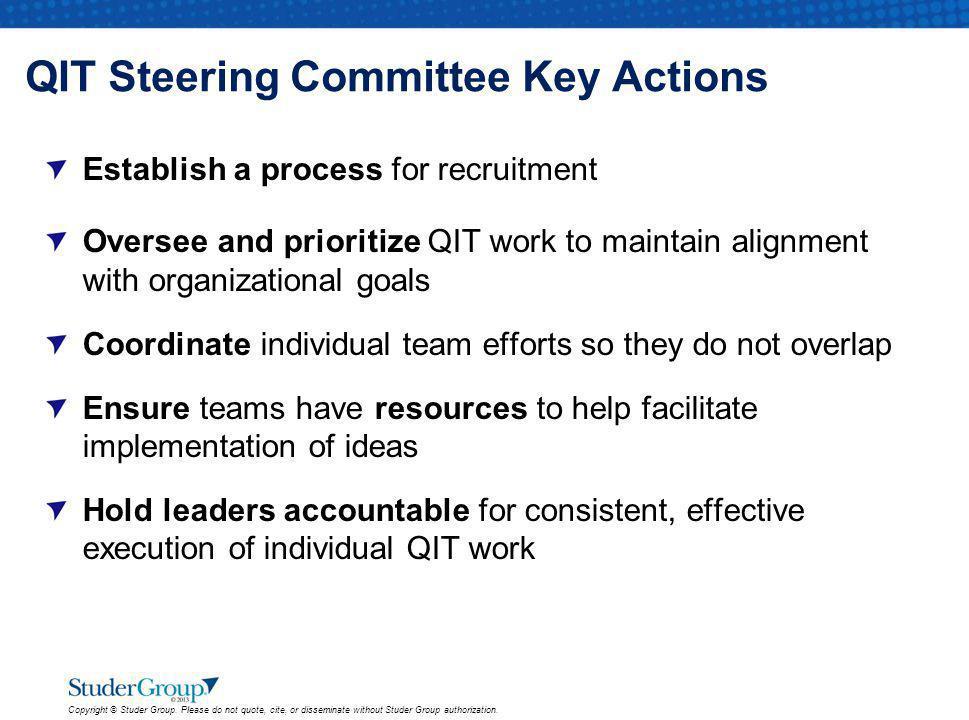 QIT Steering Committee Key Actions