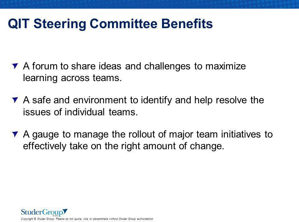 QIT Steering Committee Benefits