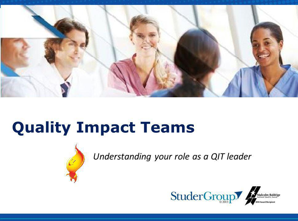 Understanding your role as a QIT leader