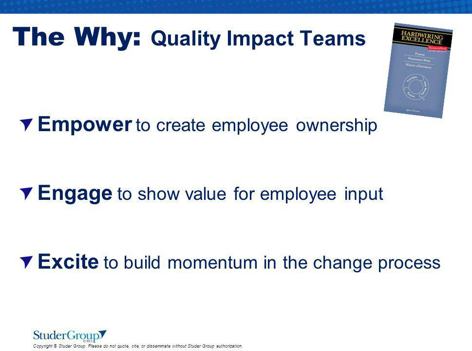 The Why: Quality Impact Teams