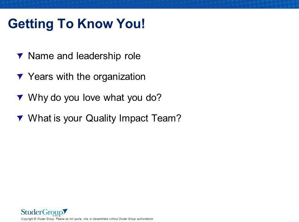 Getting To Know You! Name and leadership role