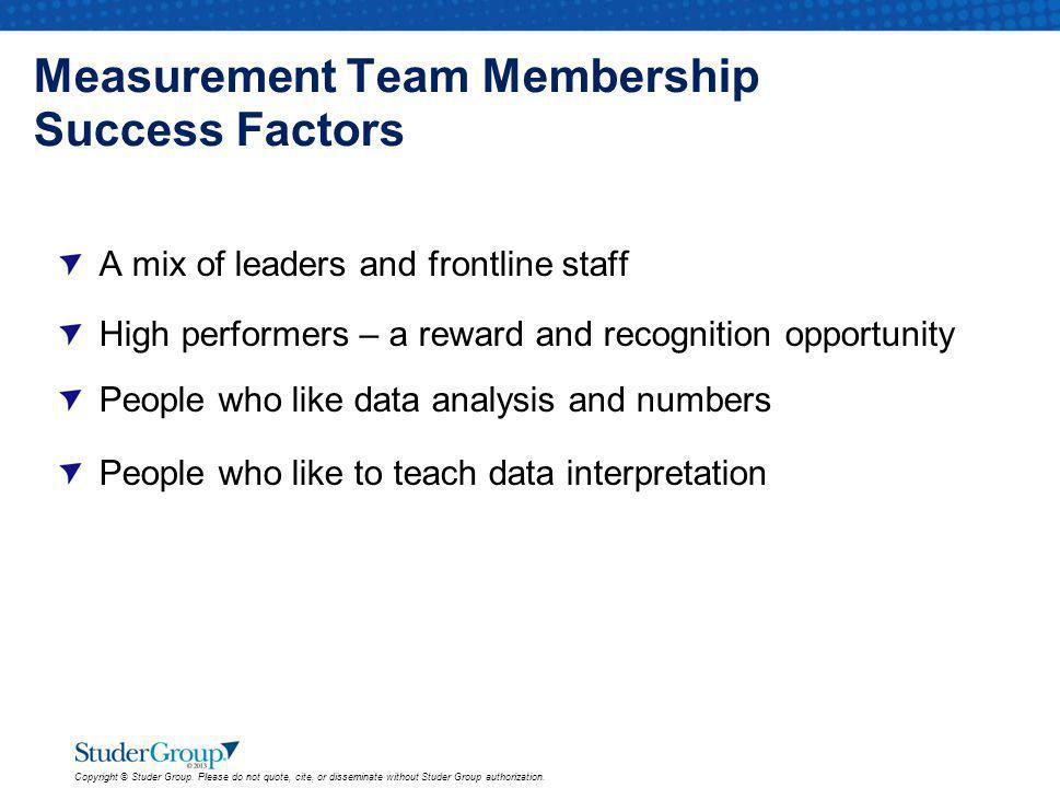 Measurement Team Membership Success Factors