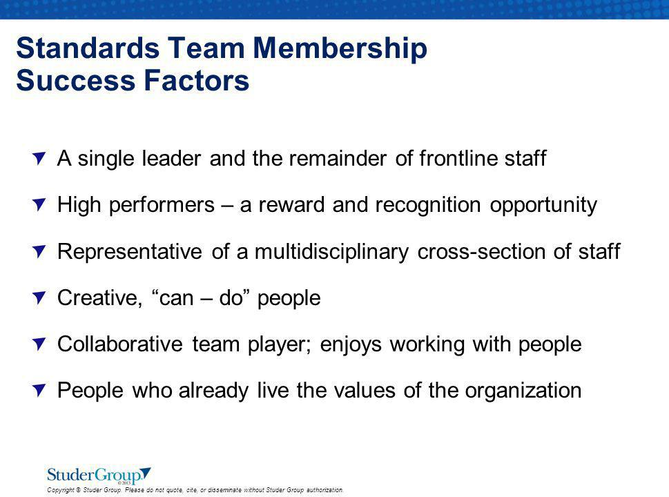 Standards Team Membership Success Factors