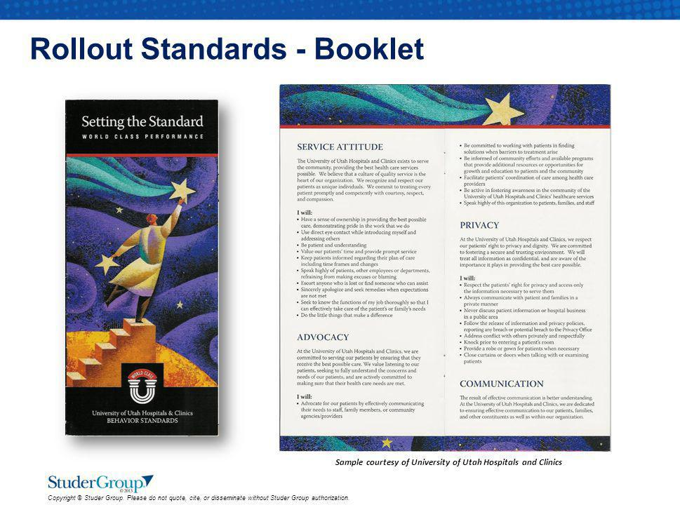 Rollout Standards - Booklet
