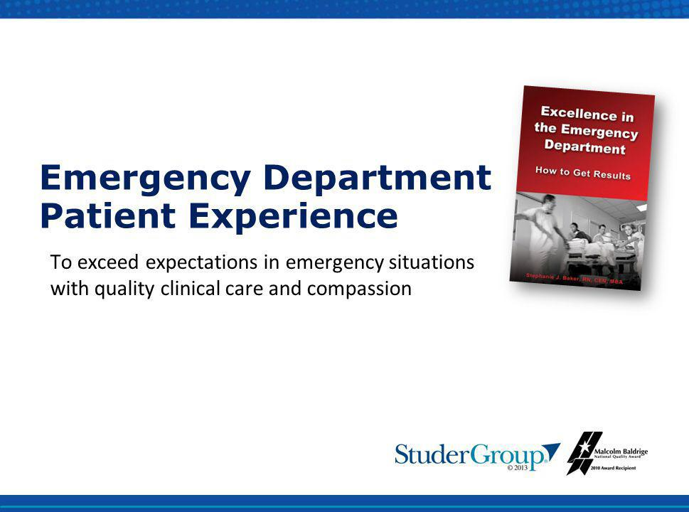 Emergency Department Patient Experience