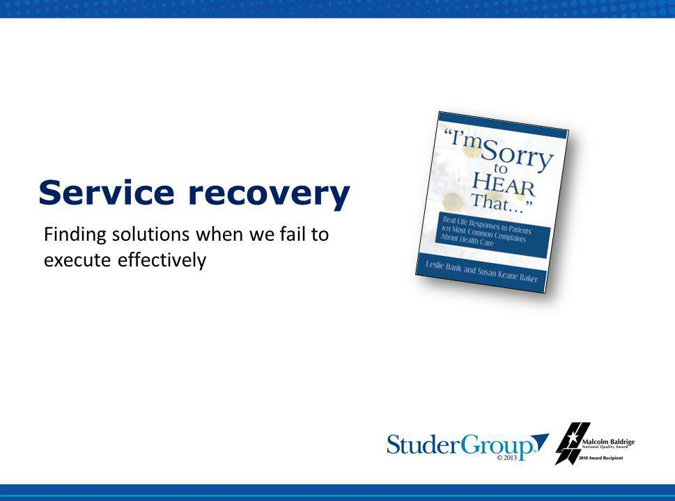 Finding solutions when we fail to execute effectively