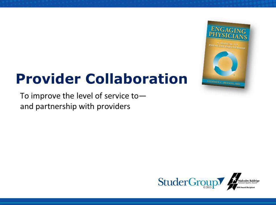 Provider Collaboration