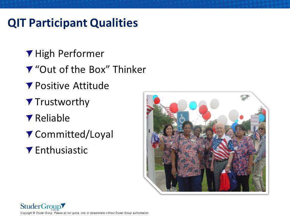 QIT Participant Qualities