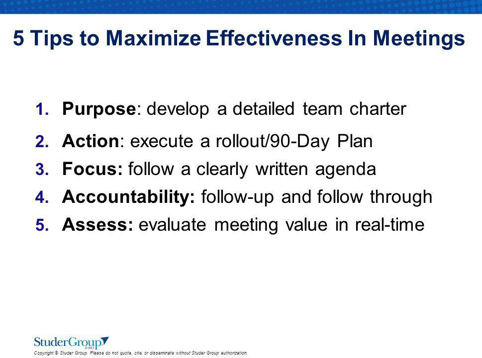 5 Tips to Maximize Effectiveness In Meetings