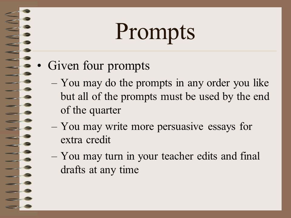 Prompts Given four prompts