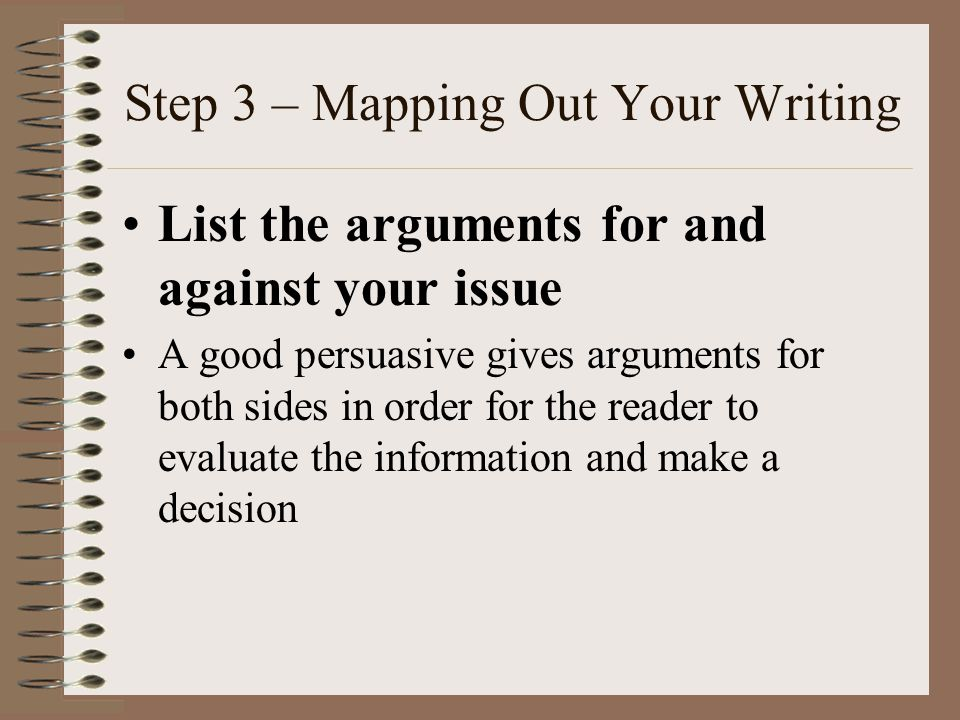 Step 3 – Mapping Out Your Writing