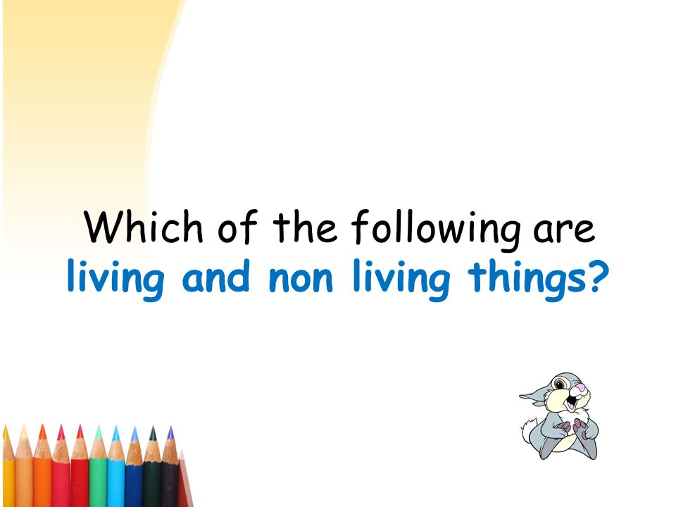 Which of the following are living and non living things