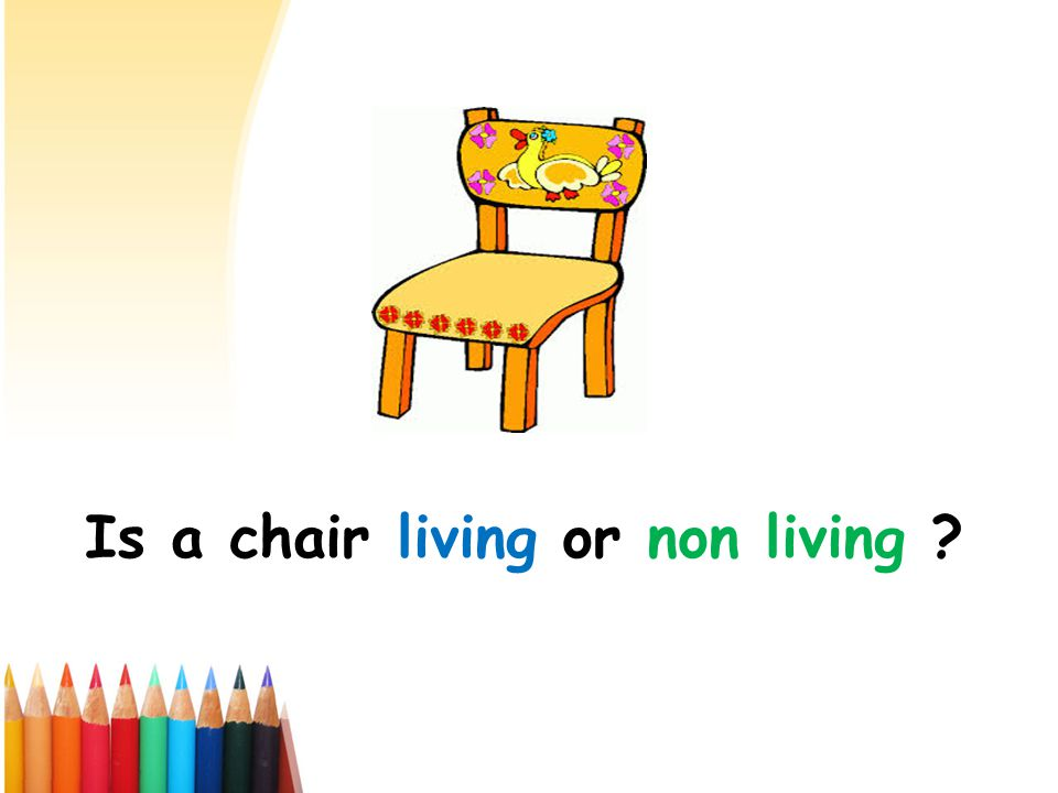 Is a chair living or non living