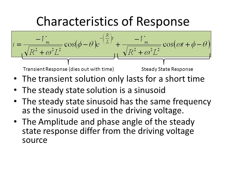 Characteristics of Response
