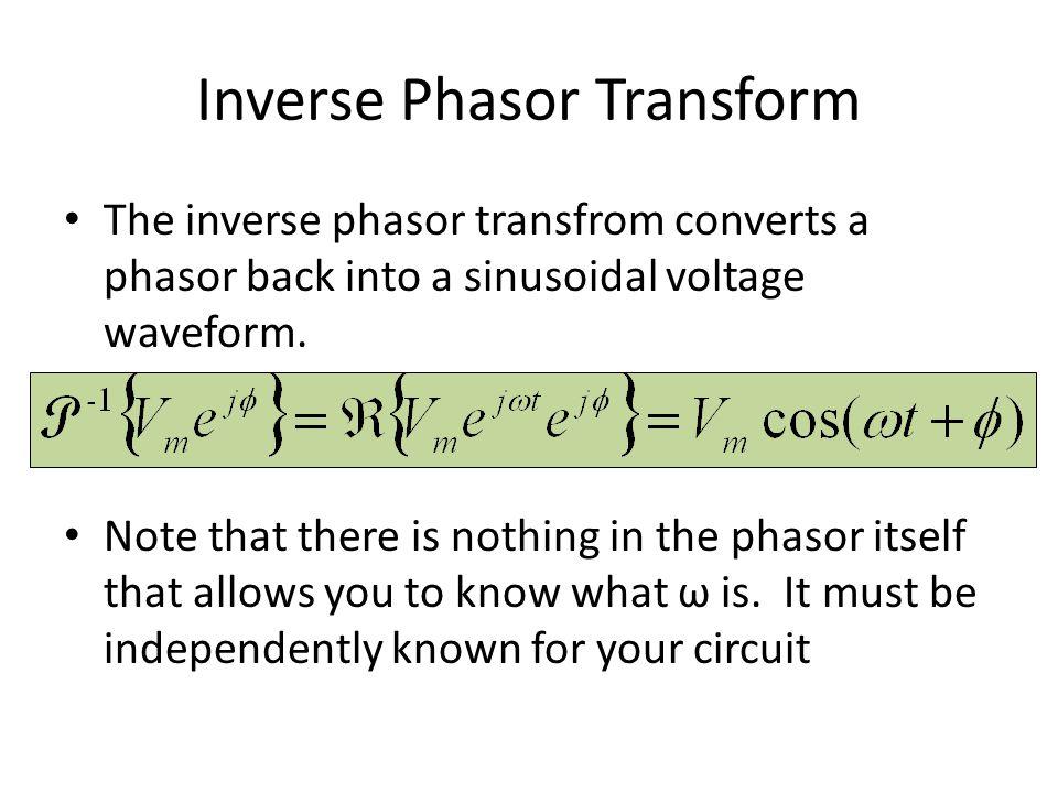 Inverse Phasor Transform