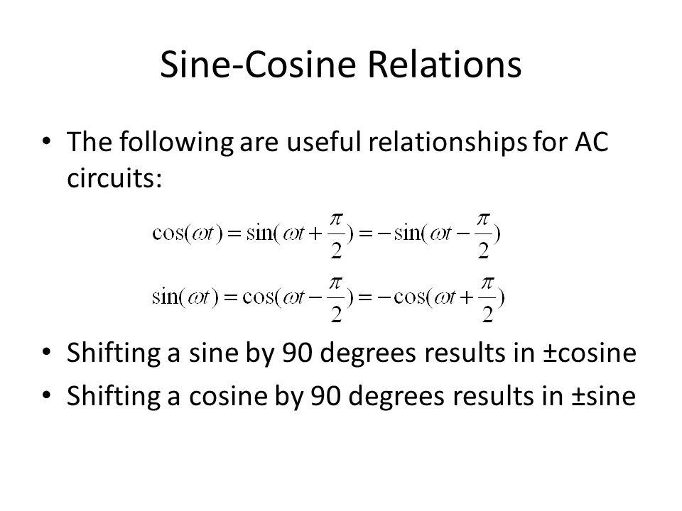 Sine-Cosine Relations