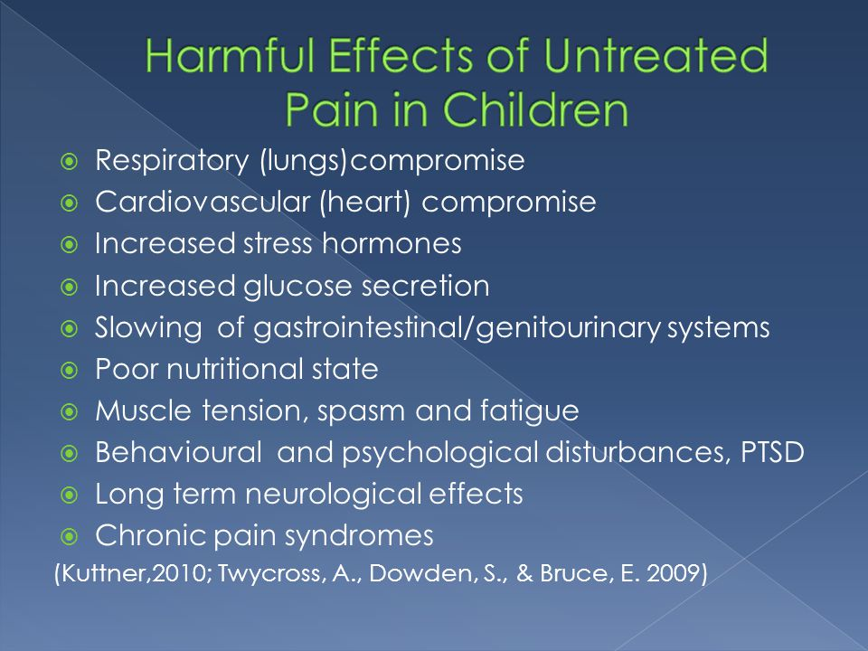 Harmful Effects of Untreated Pain in Children