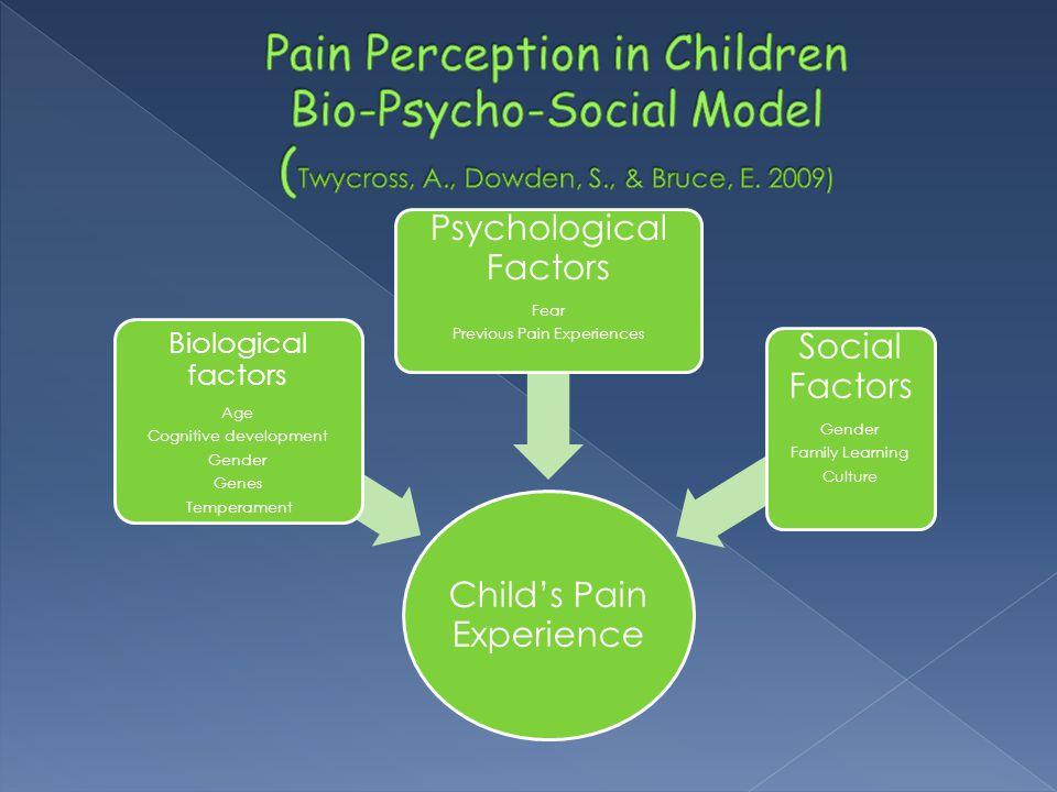 Pain Perception in Children Bio-Psycho-Social Model (Twycross, A