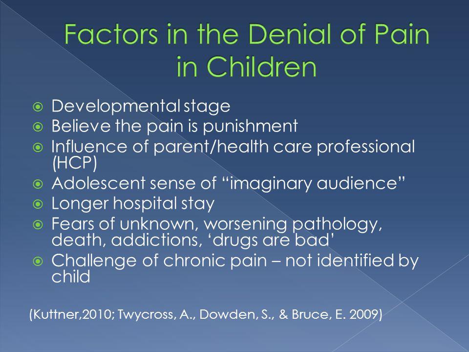 Factors in the Denial of Pain in Children