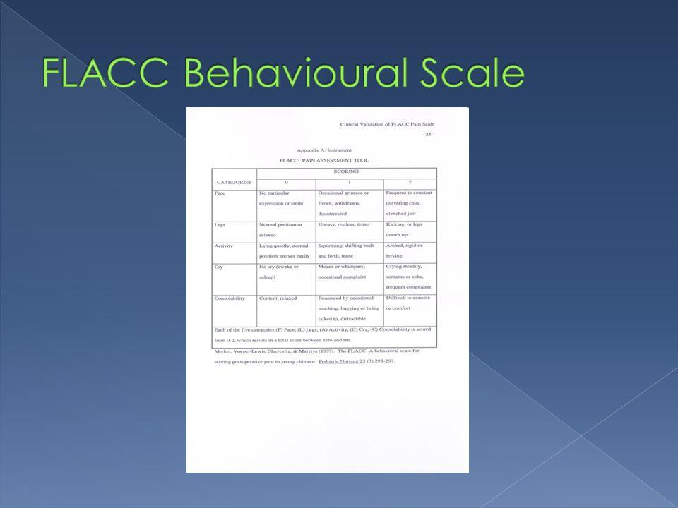 FLACC Behavioural Scale