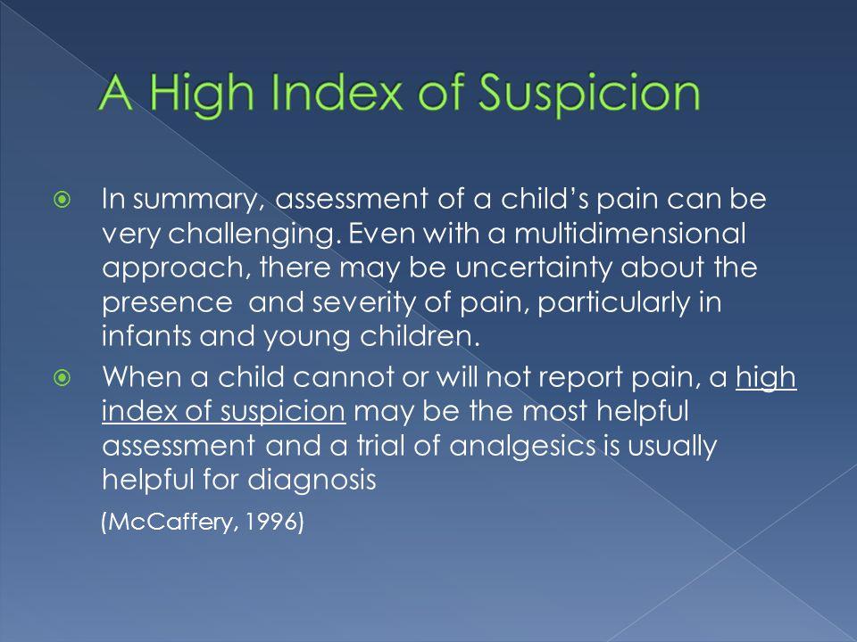 A High Index of Suspicion