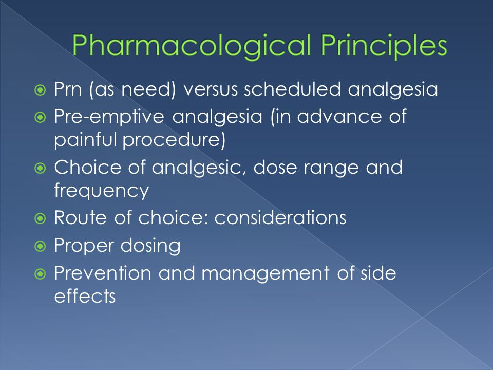 Pharmacological Principles