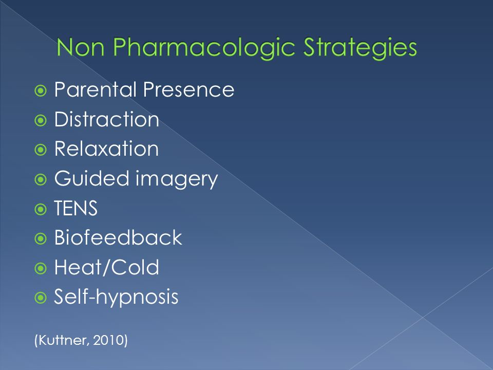 Non Pharmacologic Strategies