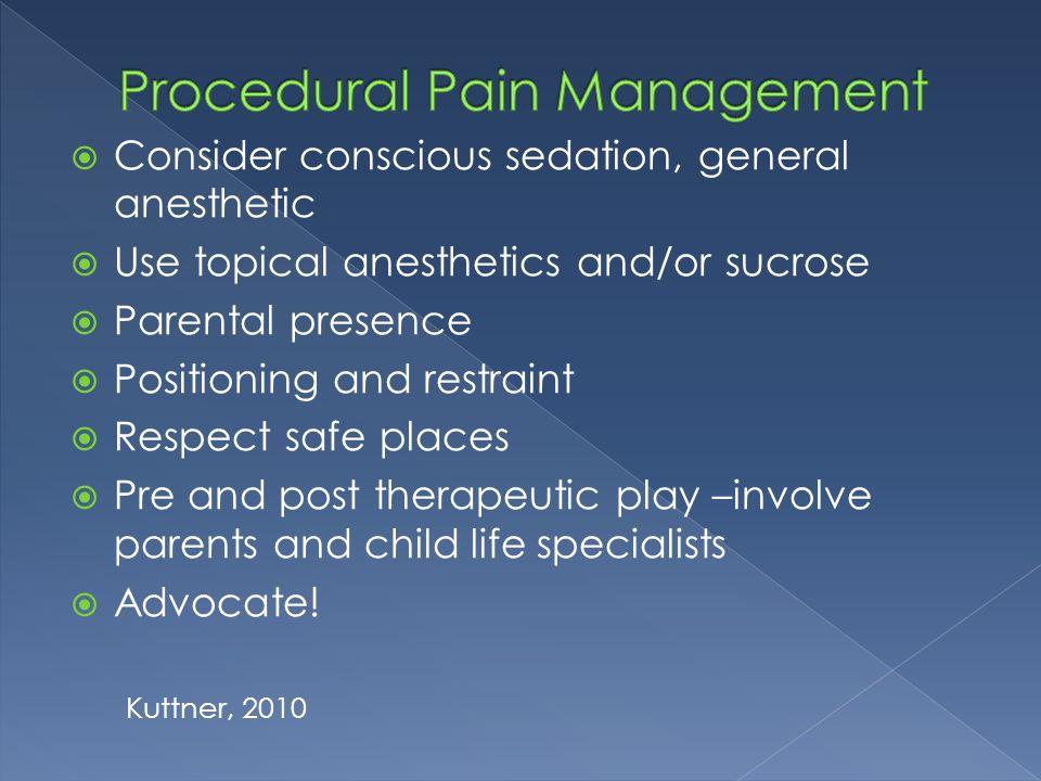 Procedural Pain Management