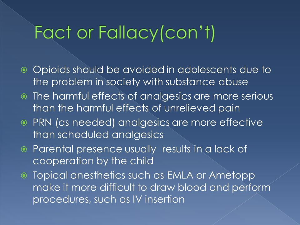 Fact or Fallacy(con't)