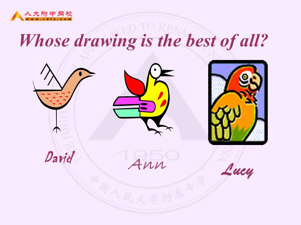 Whose drawing is the best of all