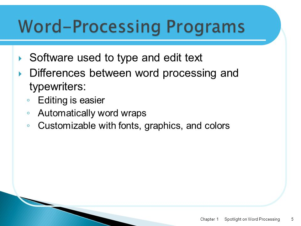 Word-Processing Programs