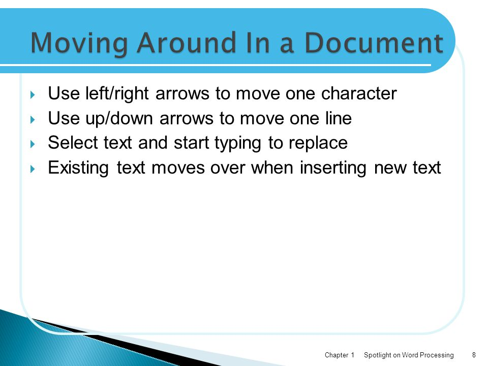 Moving Around In a Document