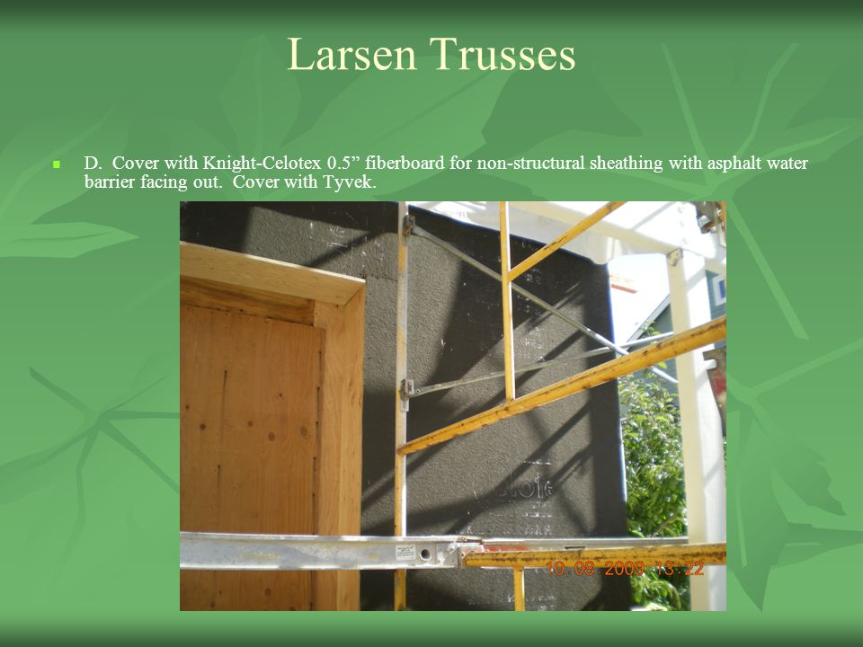 Thursday april 22 2010 10 30 am 12 00 pm ppt video for Structural fiberboard sheathing