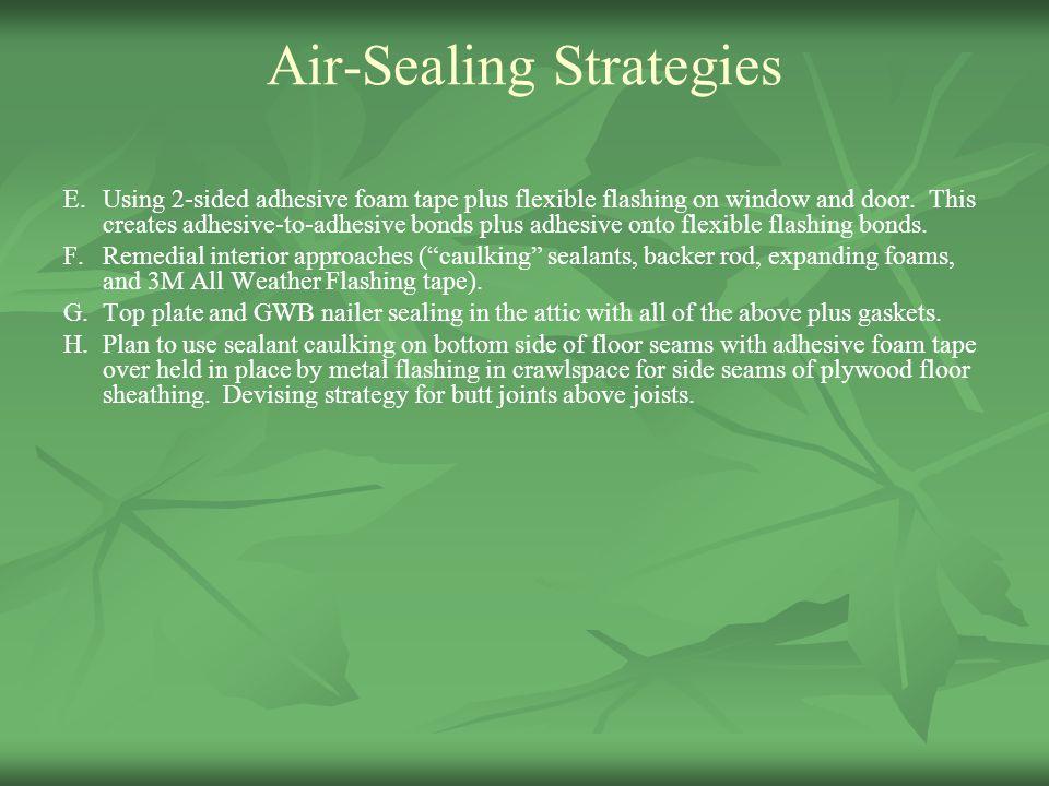 Air-Sealing Strategies