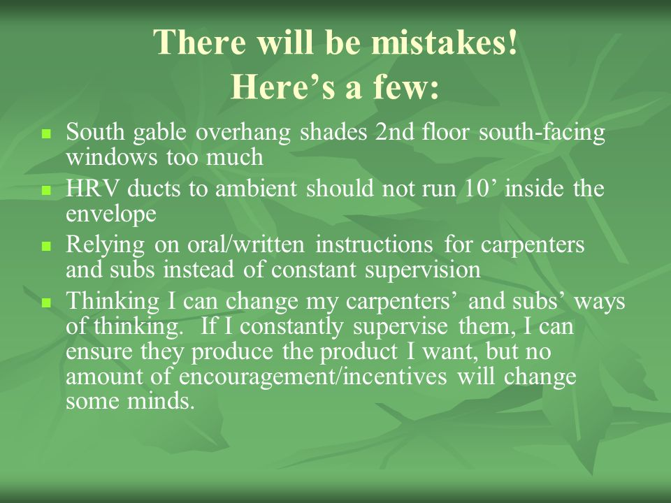 There will be mistakes! Here's a few: