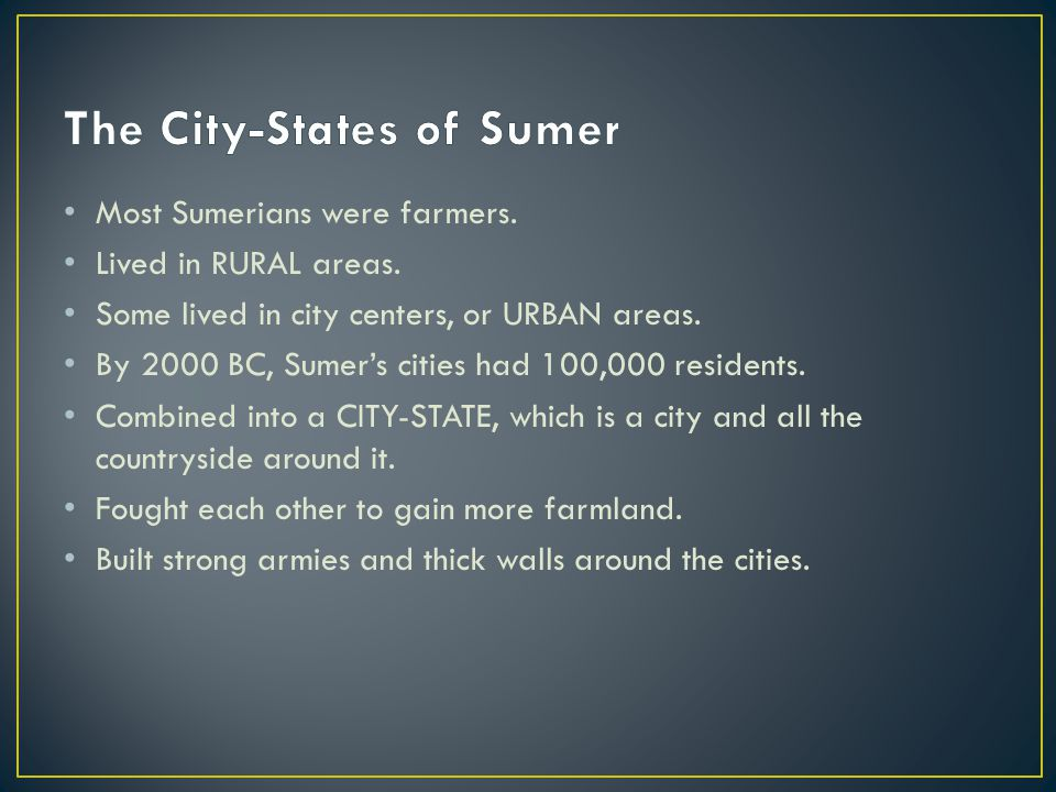 The City-States of Sumer