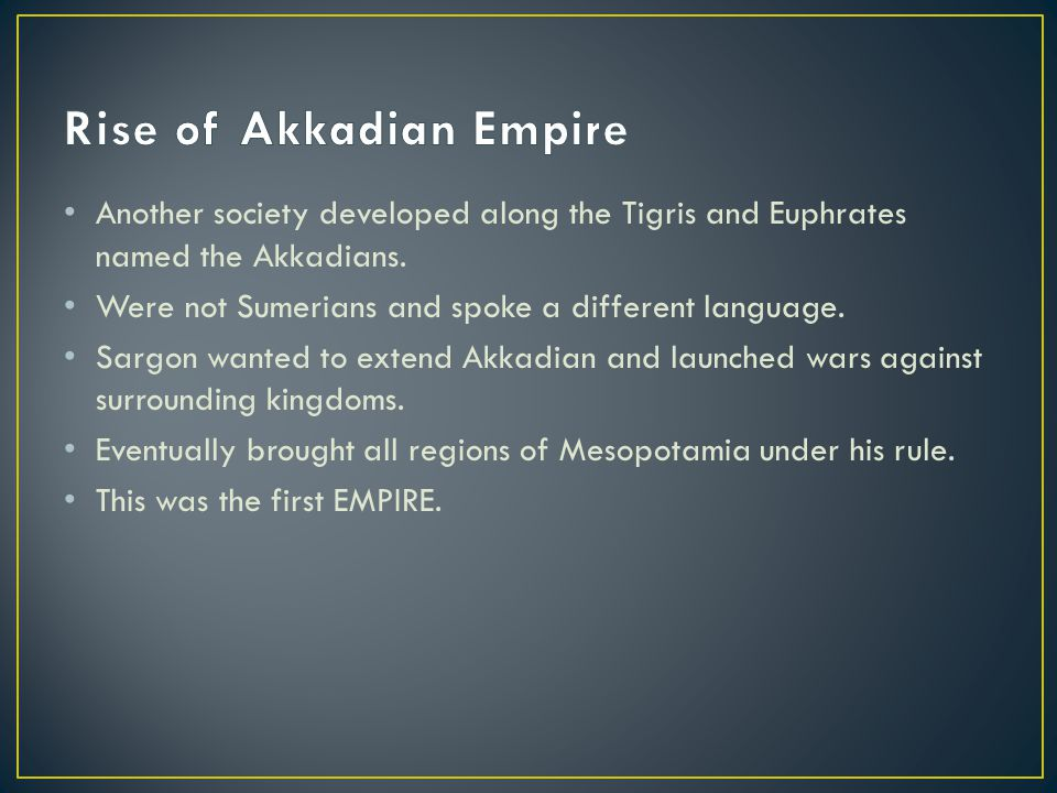 Rise of Akkadian Empire