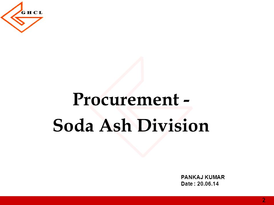 Procurement - Soda Ash Division