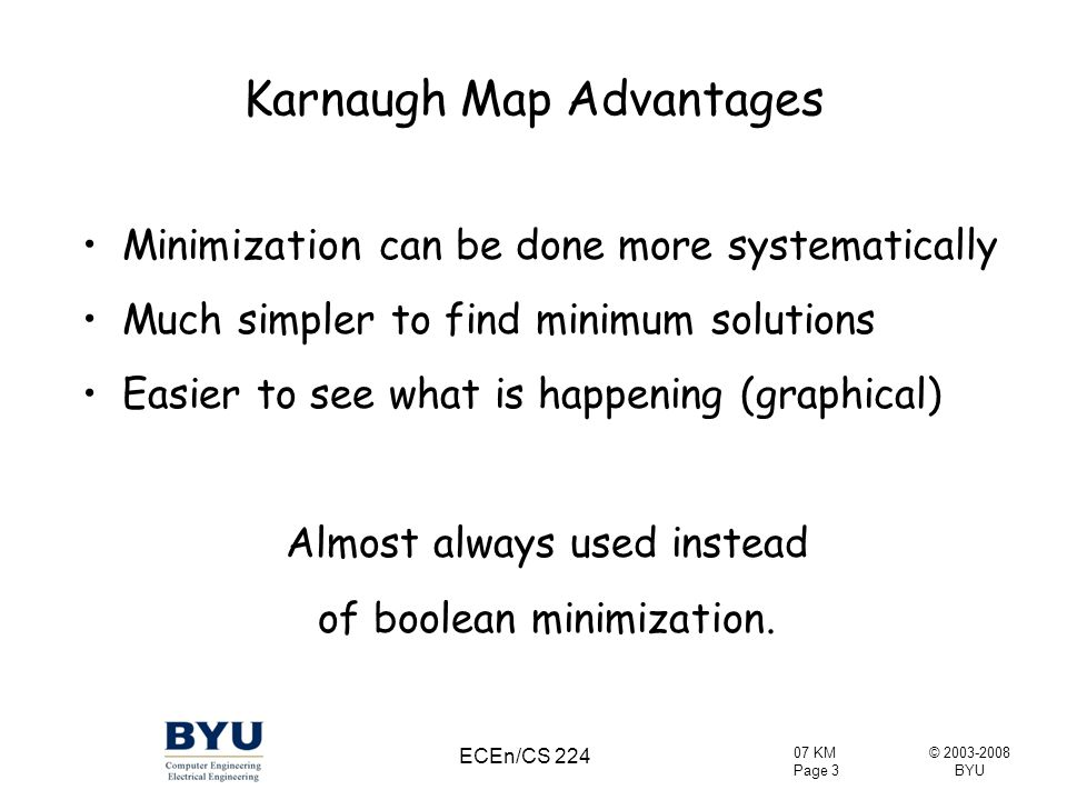 Karnaugh Map Advantages