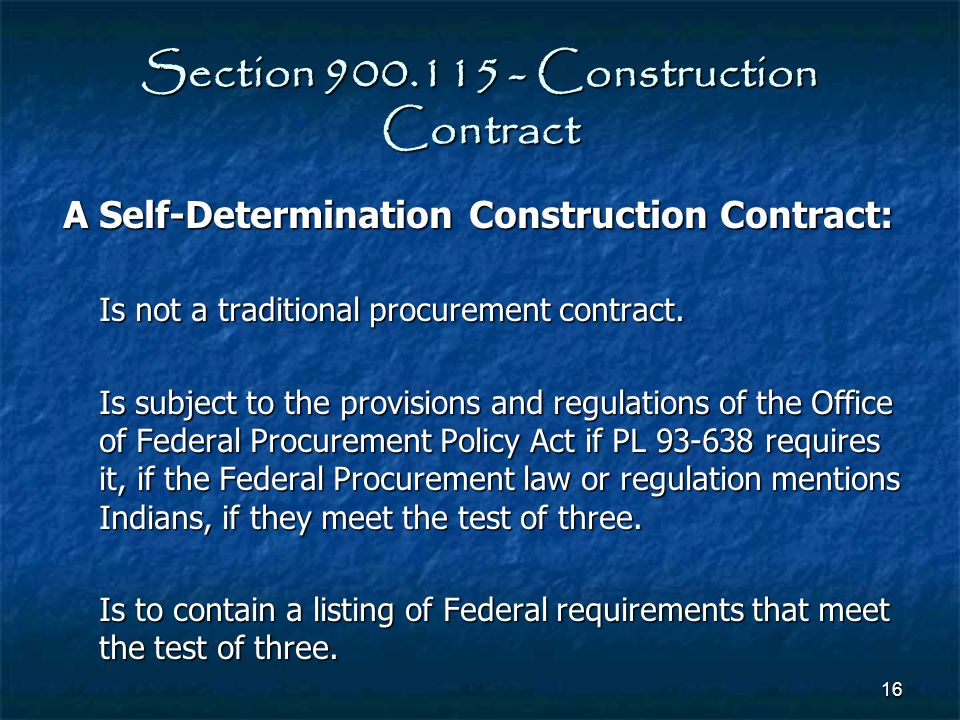 Section 900.115 - Construction Contract