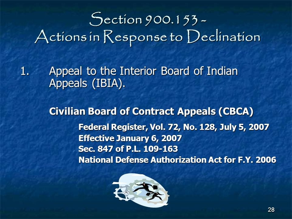Section 900.153 - Actions in Response to Declination