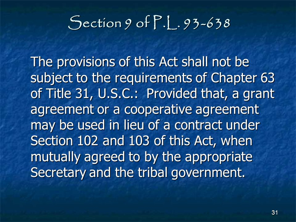 Section 9 of P.L. 93-638