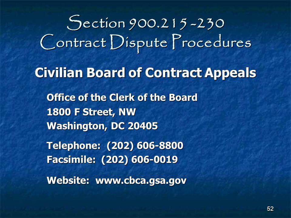 Section 900.215 -230 Contract Dispute Procedures