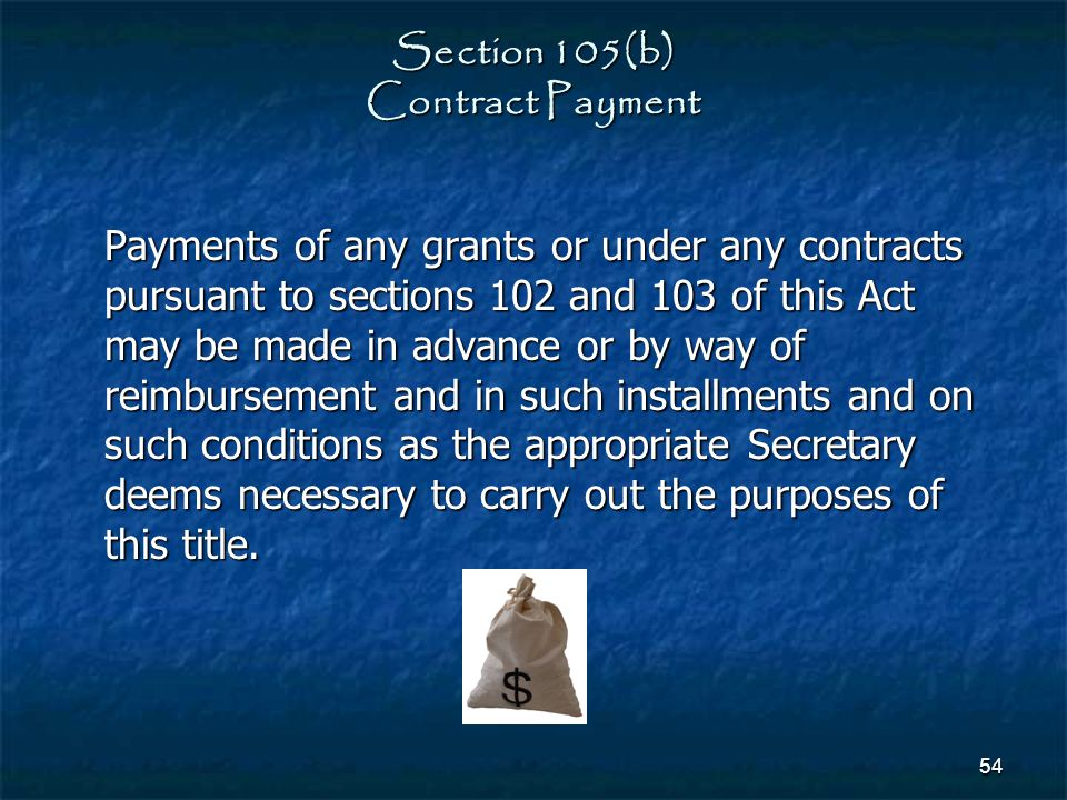 Section 105(b) Contract Payment