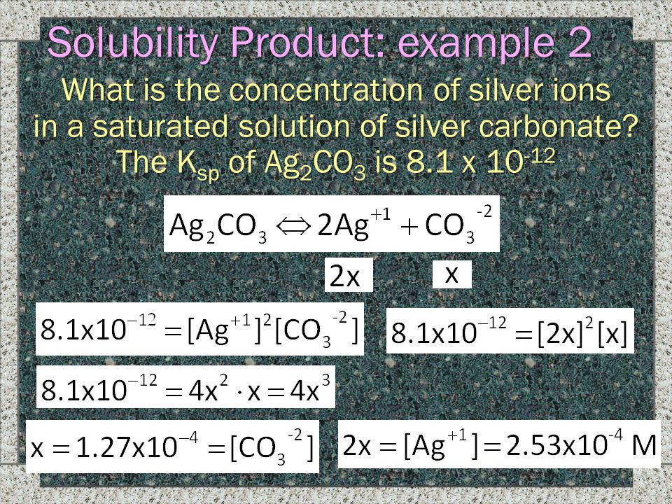 Solubility Product: example 2