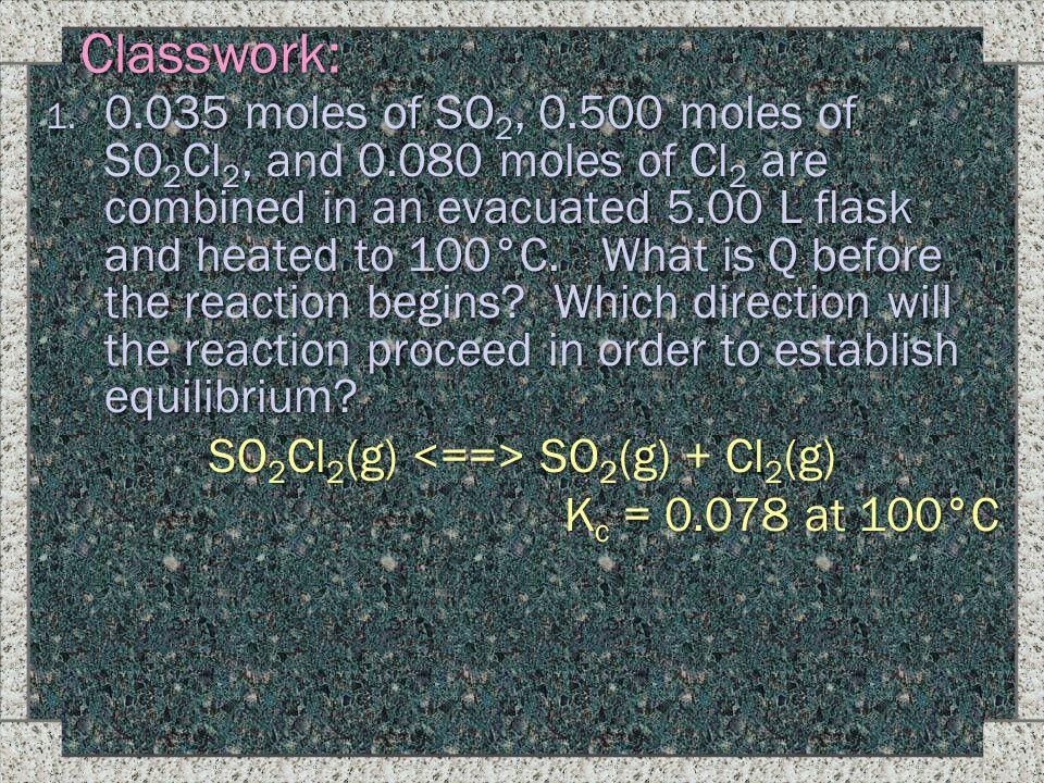 SO2Cl2(g) <==> SO2(g) + Cl2(g)