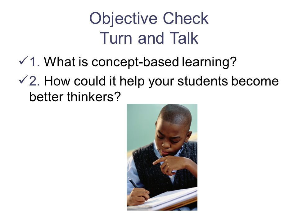 Objective Check Turn and Talk