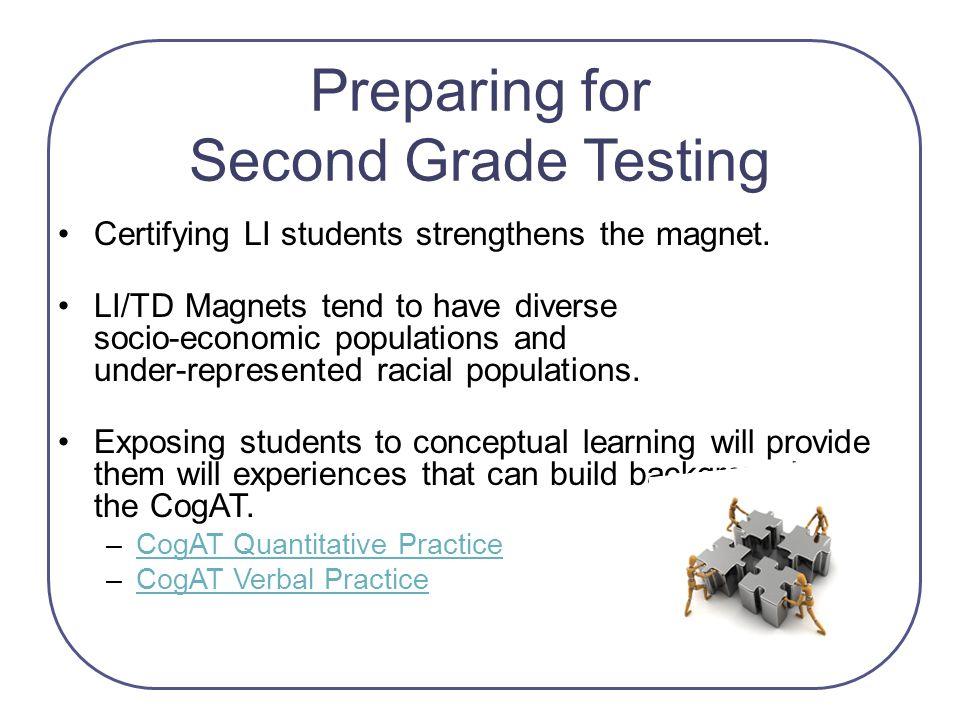 Preparing for Second Grade Testing