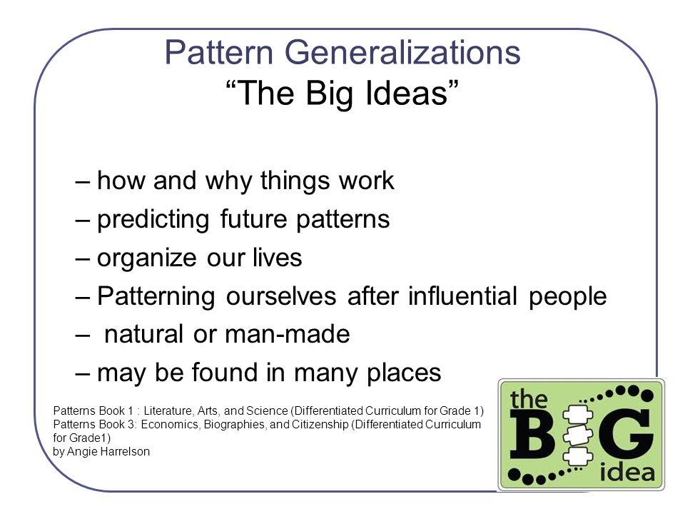 Pattern Generalizations The Big Ideas
